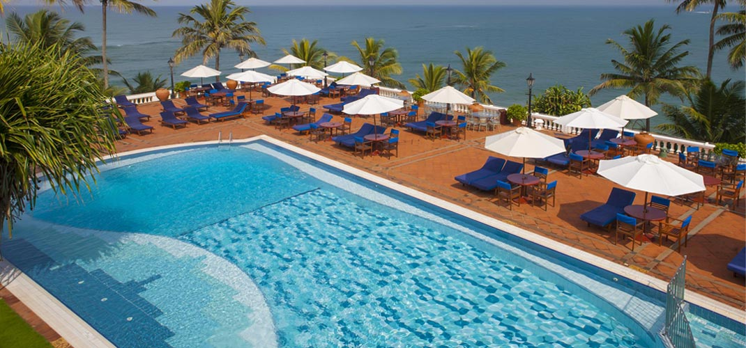 Poolside at Mount Lavinia Hotel from the Top View