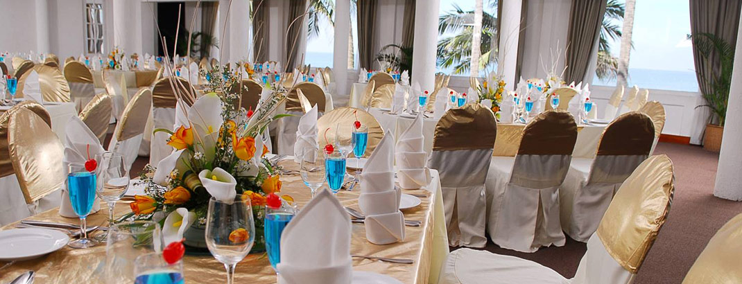 Seating Arrangement for a Wedding at Imperial Room Mount Lavinia Hotel