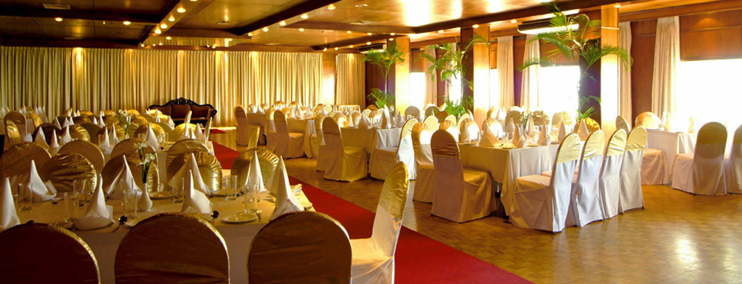 Seating Arrangement at Regency Hall Mount Lavinia Hotel