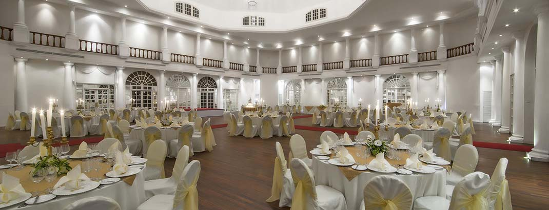 Empire Ballrooom Table Arrangement at Mount Lavinia Hotel