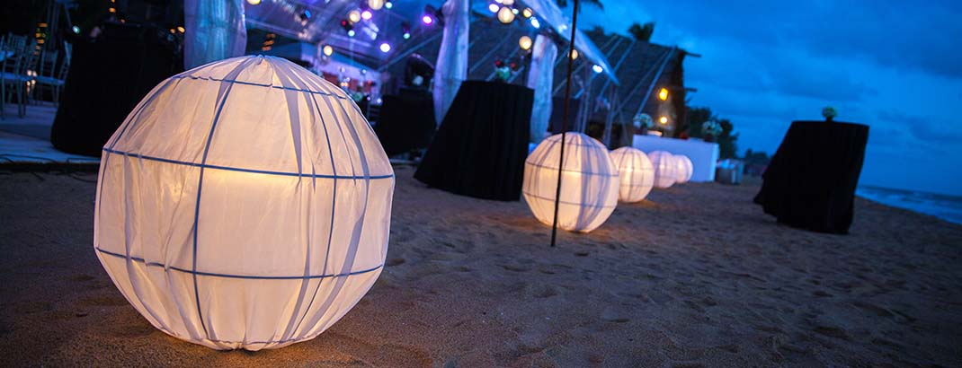 Chinese Lanterns in Mount Lavinia Beach