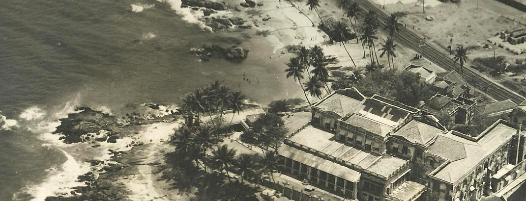 Helicopter View of Mount Laavinia Hotel in old days